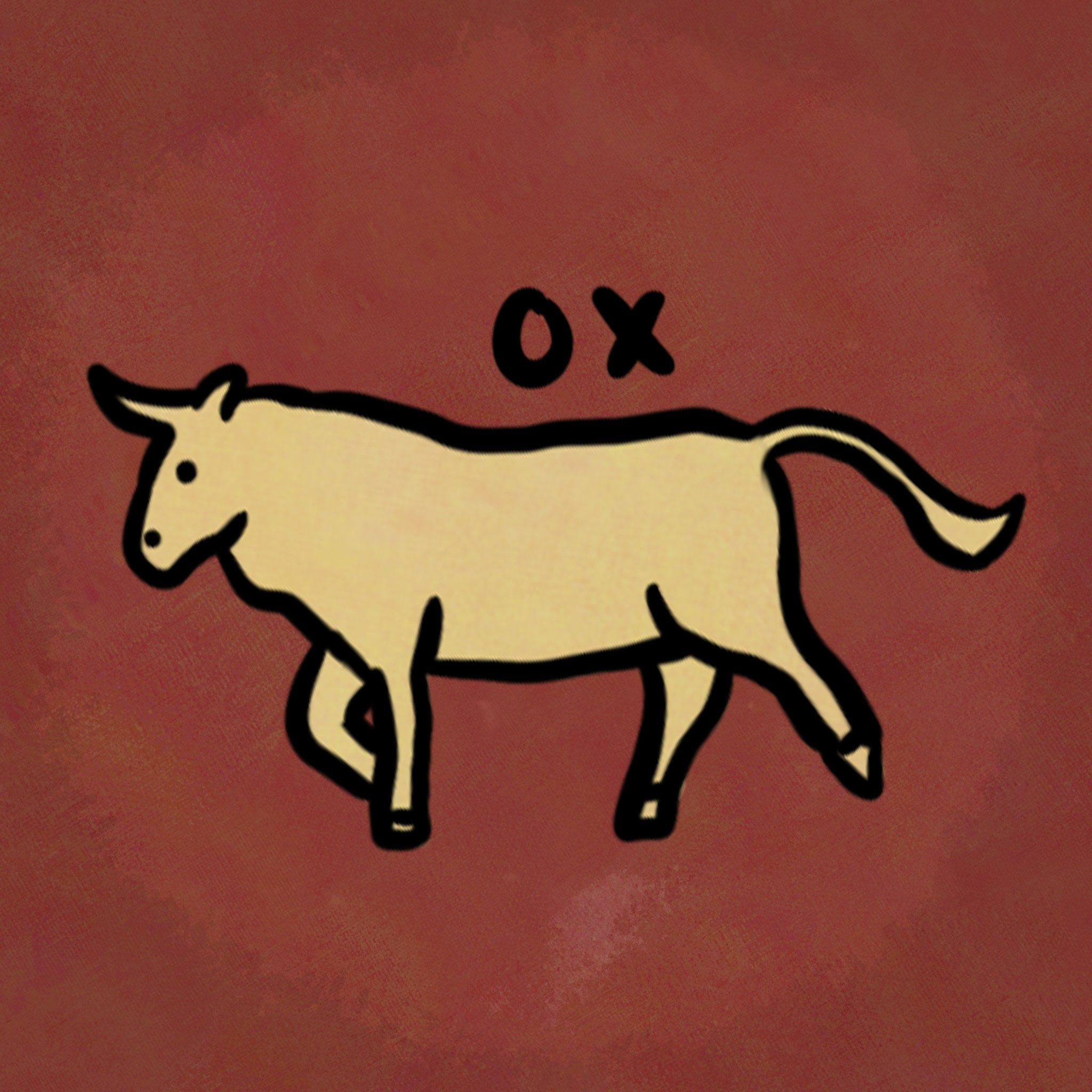 Illustration of animal from the chinese zodiac: Ox