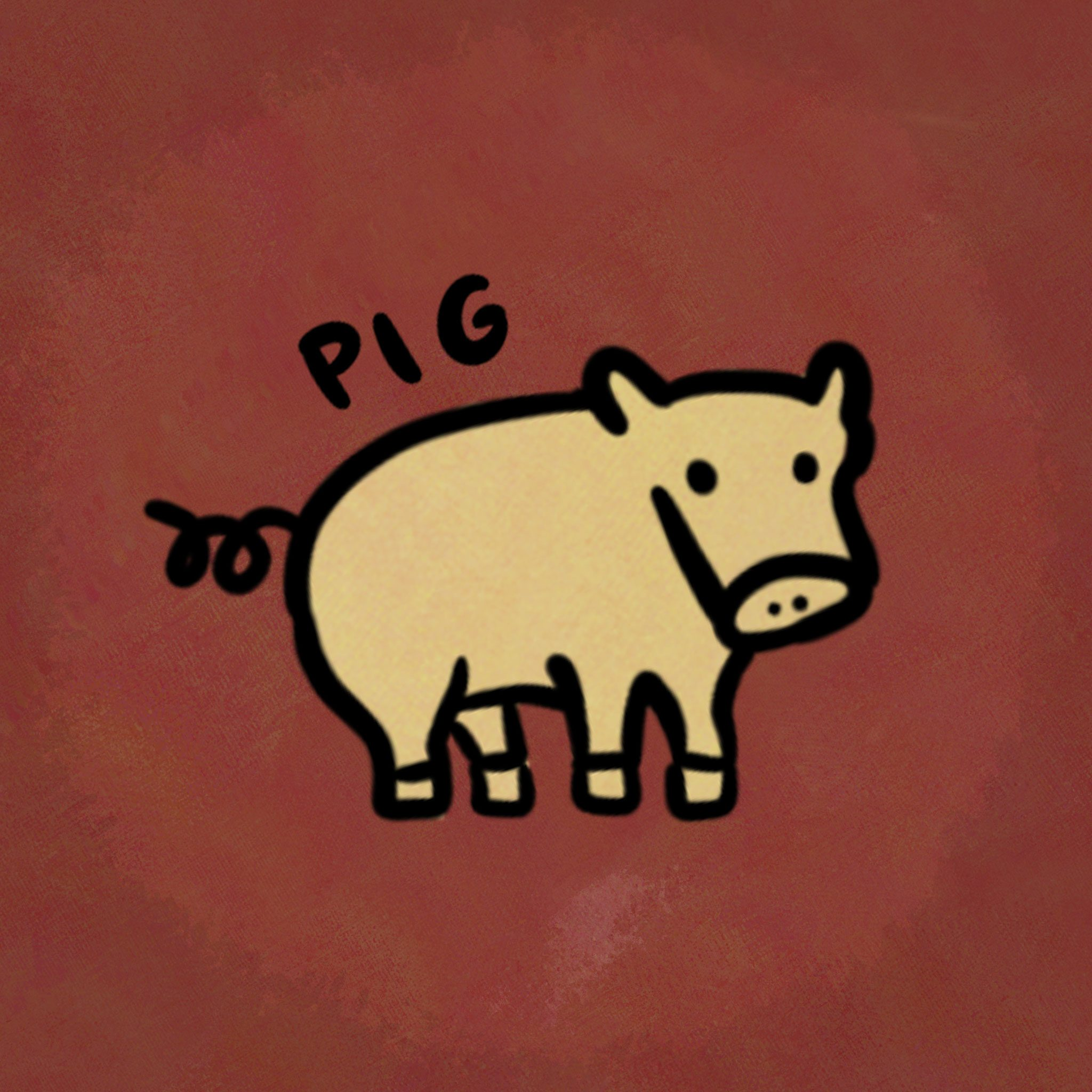 Illustration of animal from the chinese zodiac: Pig