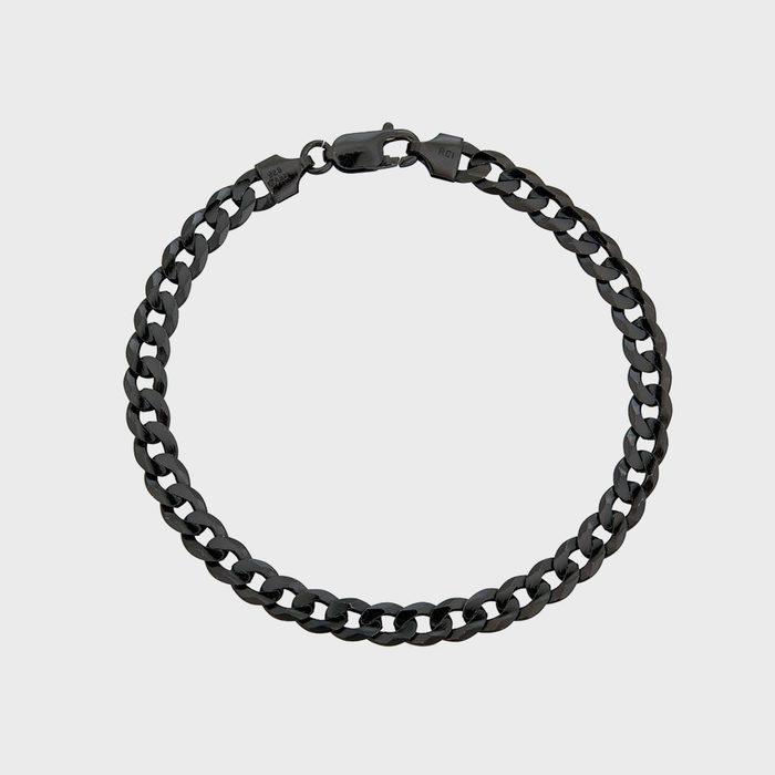 R. Chiara Black Curb Chain Bracelet