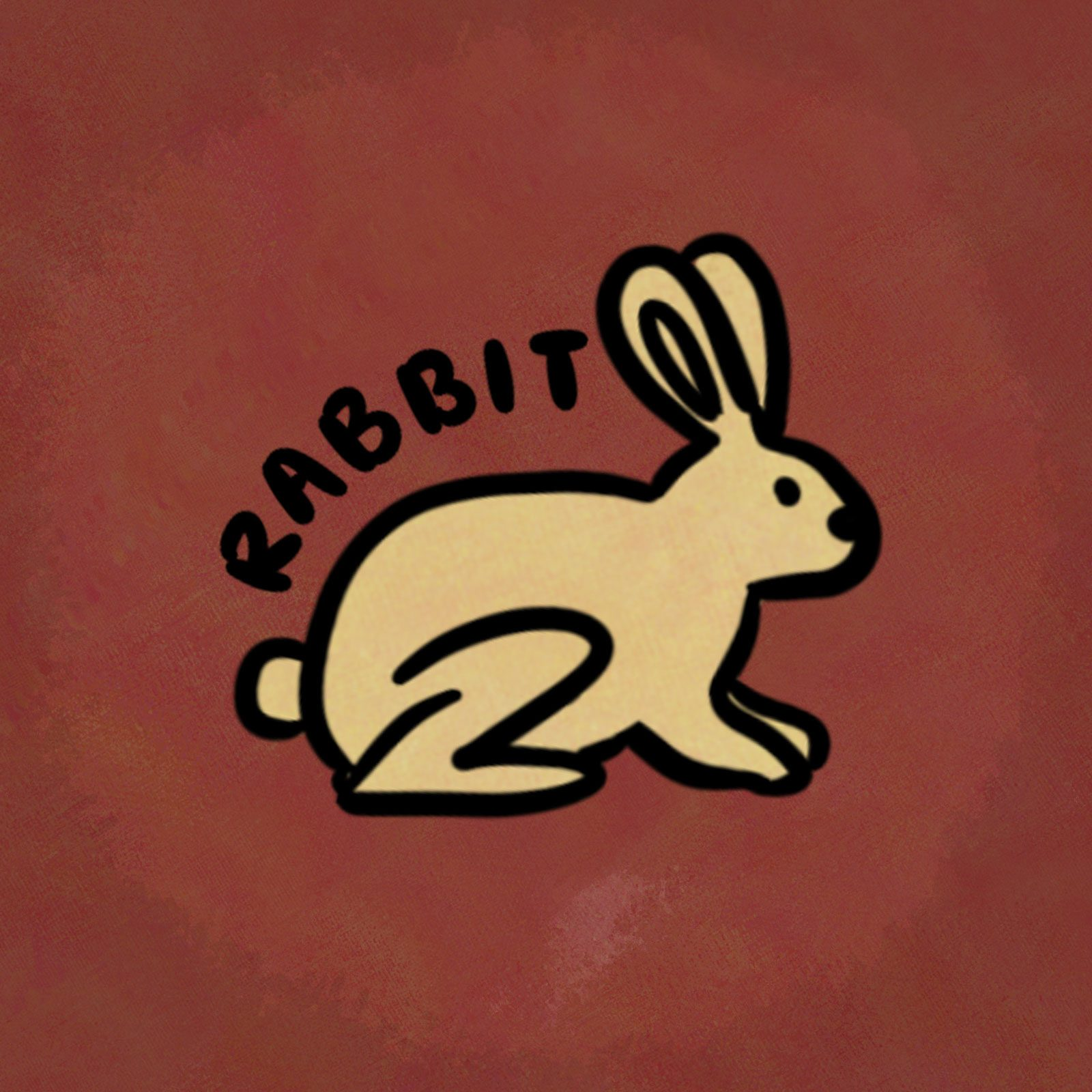 Illustration of animal from the chinese zodiac: rabbit