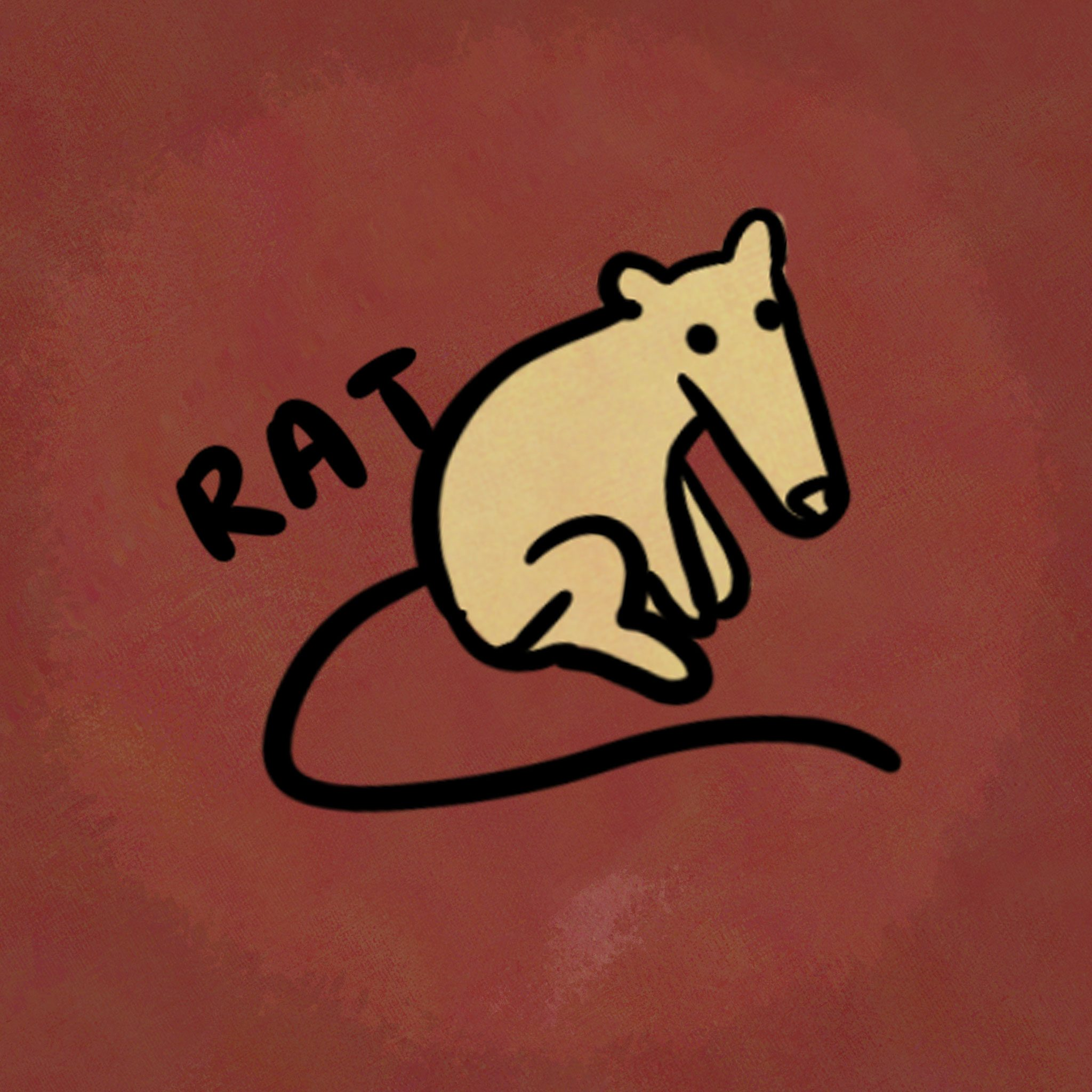 Illustration of animal from the chinese zodiac: Rat