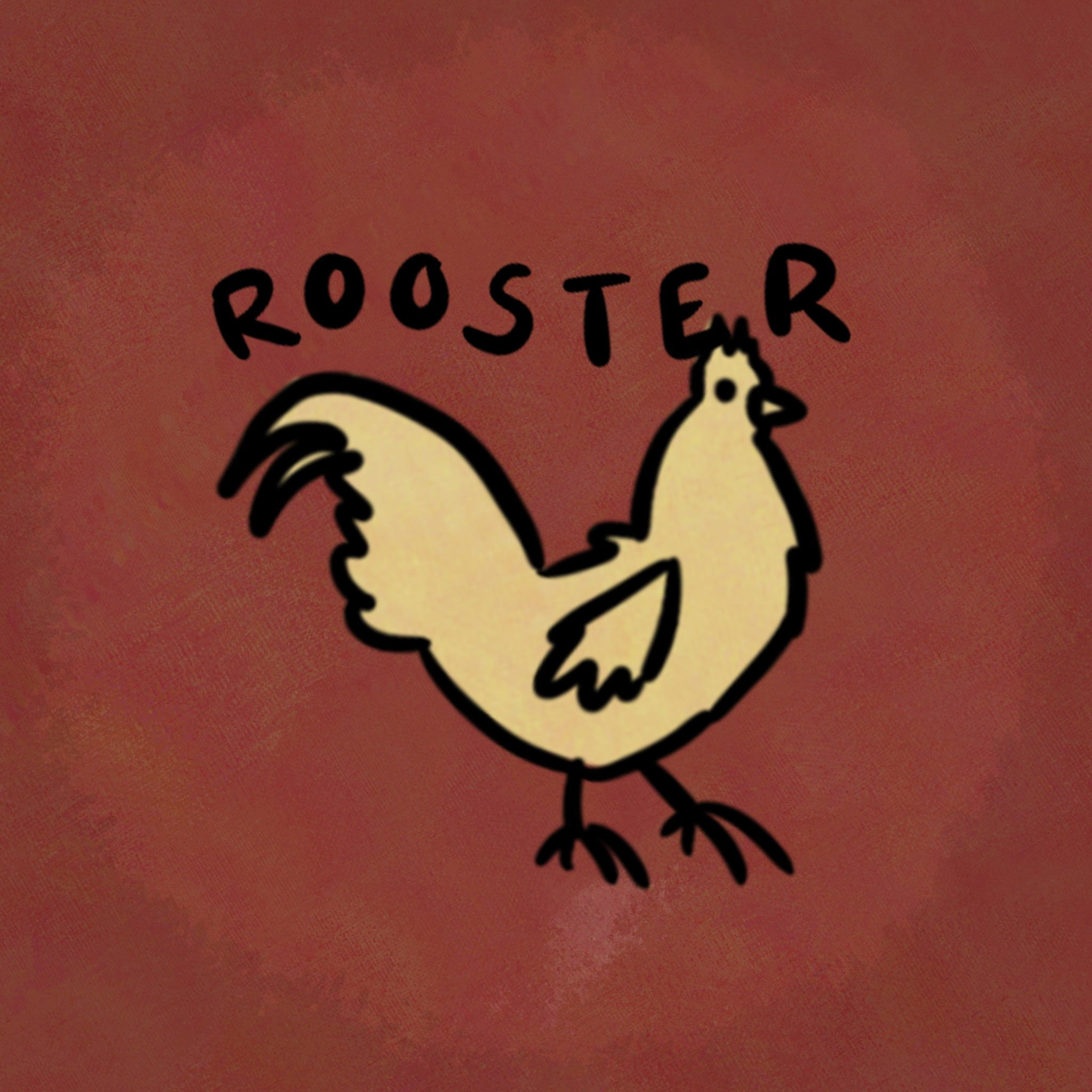 Illustration of animal from the chinese zodiac: Rooster