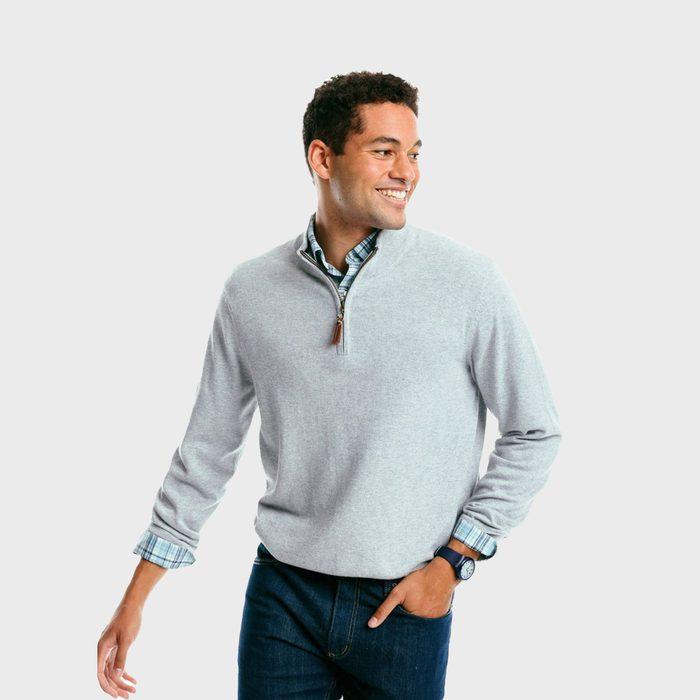 Southern Tide Croaker Quarter Zip Sweater