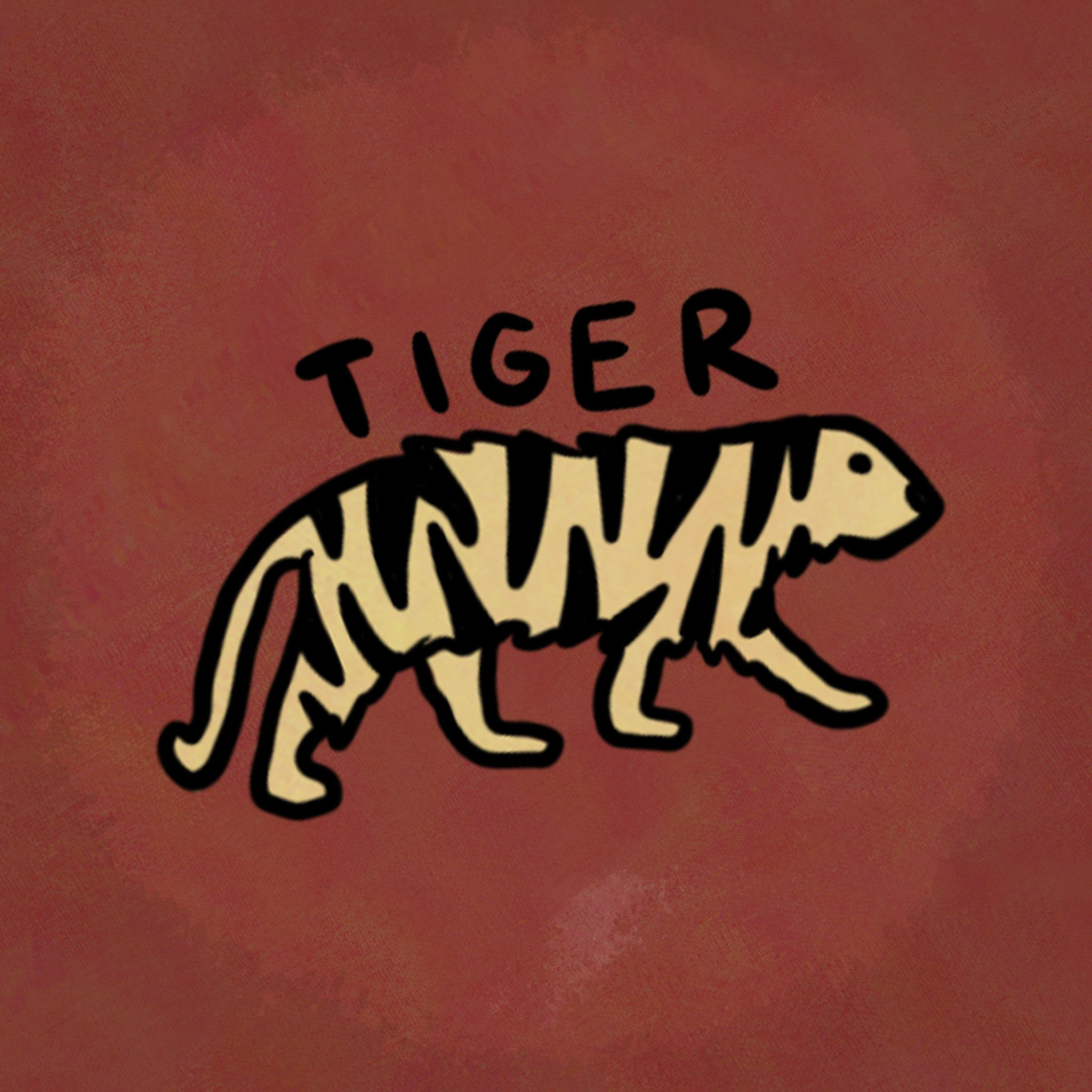 Illustration of animal from the chinese zodiac: Tiger