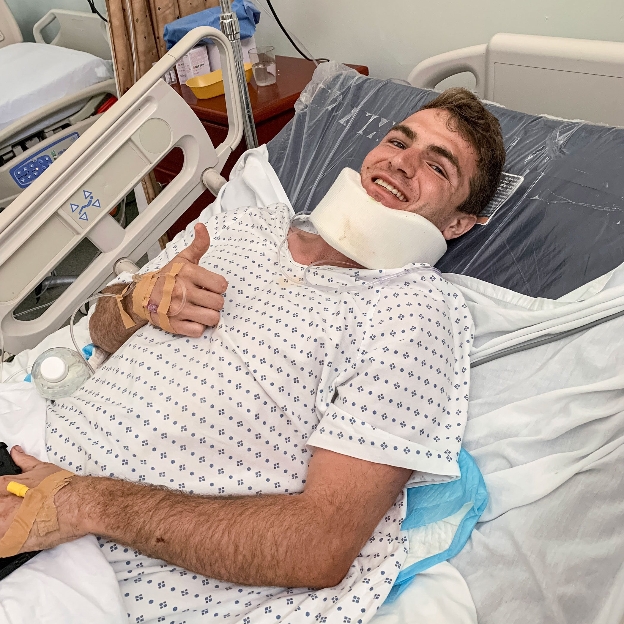 Clay, in a St. Kitts hospital