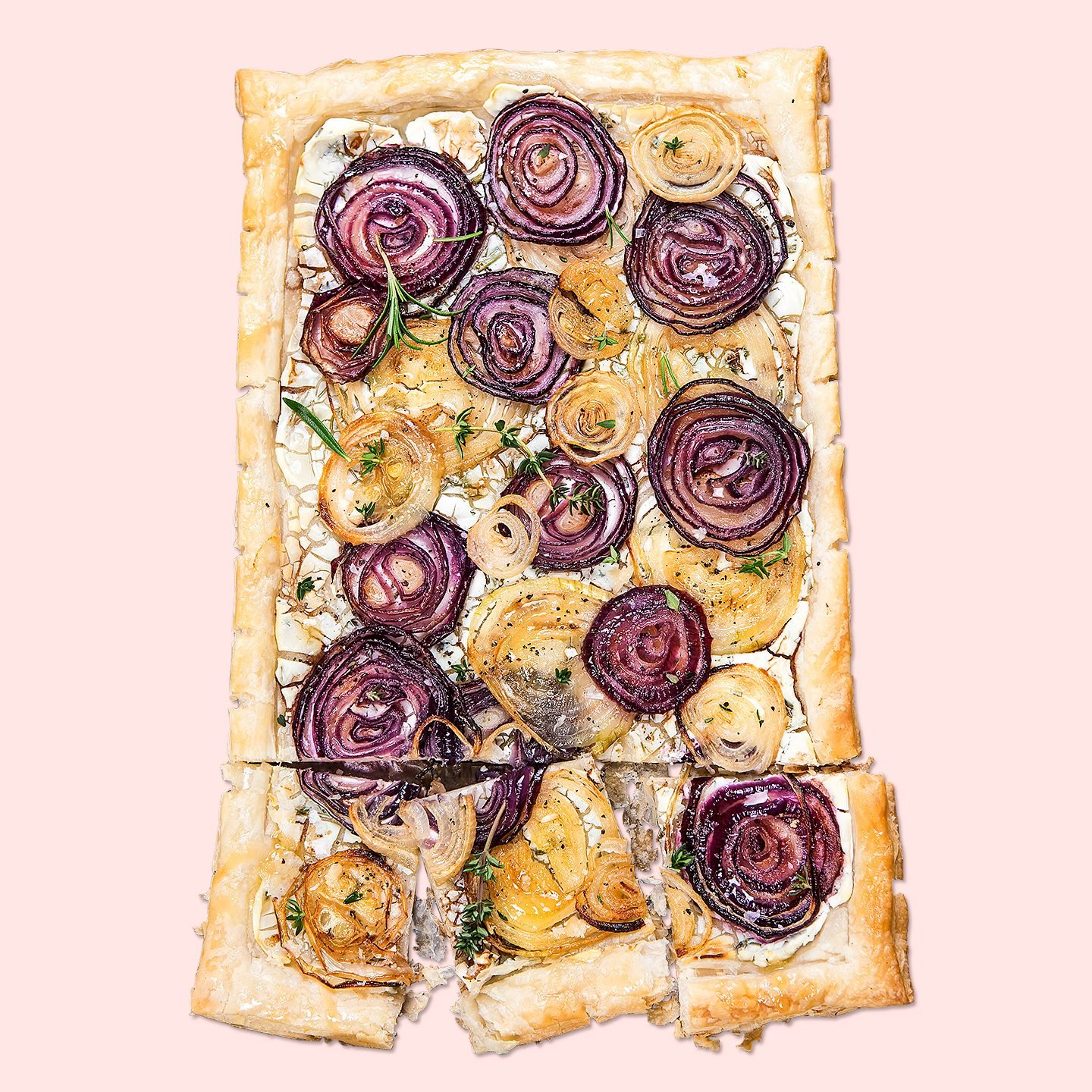onion topped puff pastry