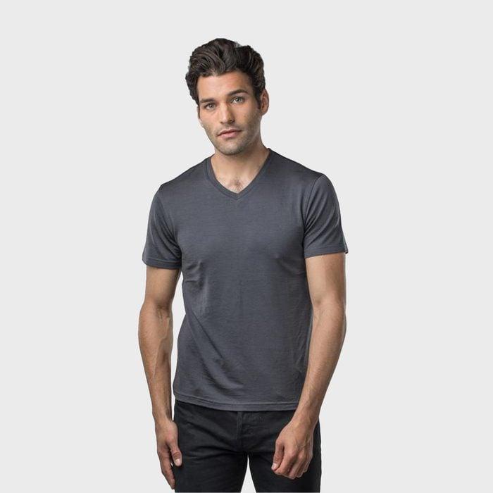 Unbound Merino Wool V Neck T Shirt