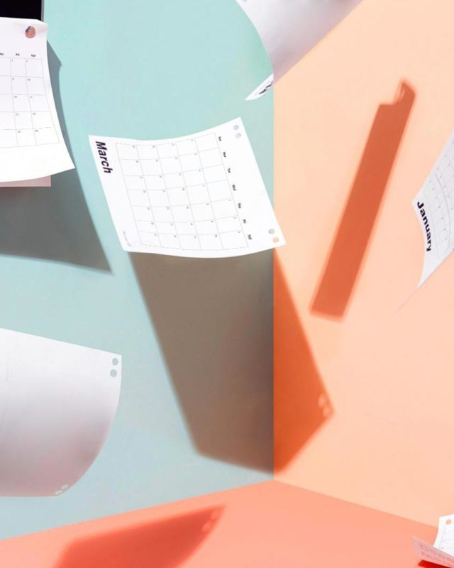 Calendar pages falling