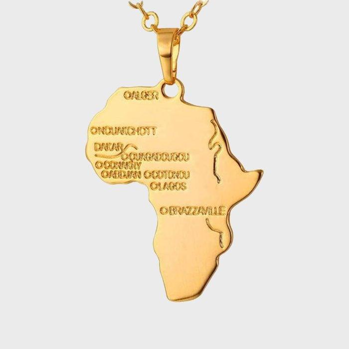 Africa Map Pendant Via Etsy