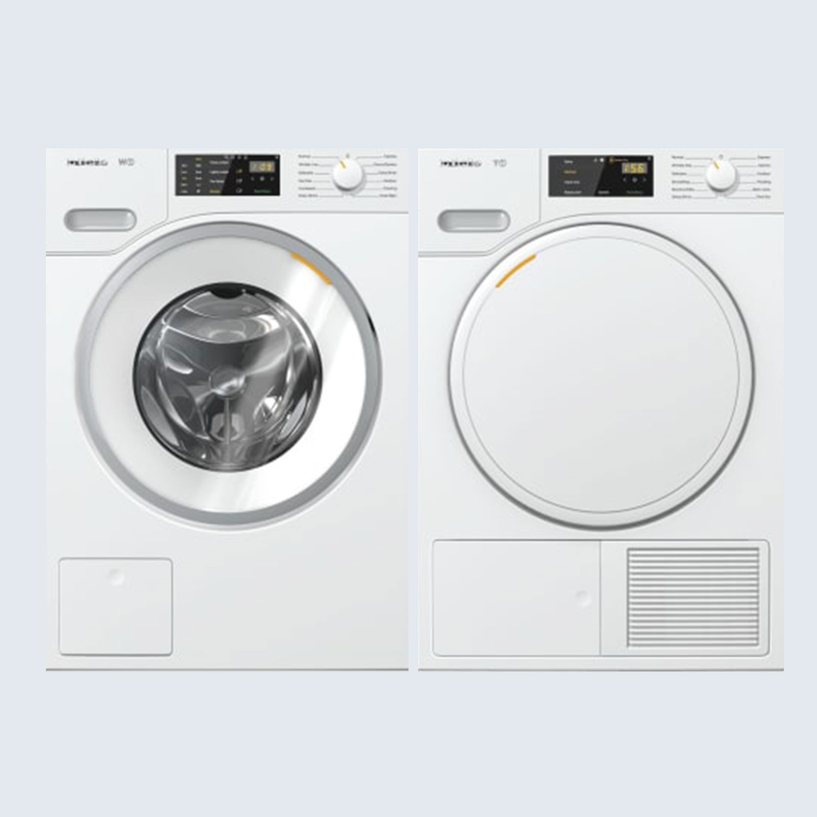Miele Stacked Front Load Washer and Elecric Dryer Set