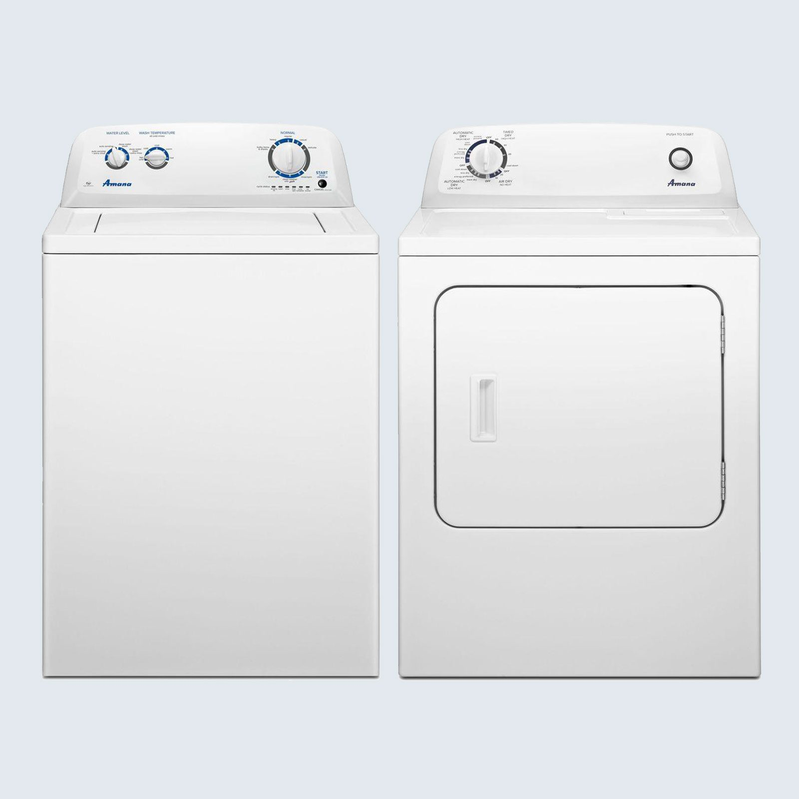 Amana Top Load Washing Machine and Vented Dryer