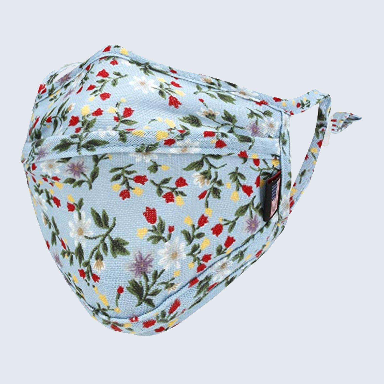 ililily Cotton Floral Patterned Face Cover