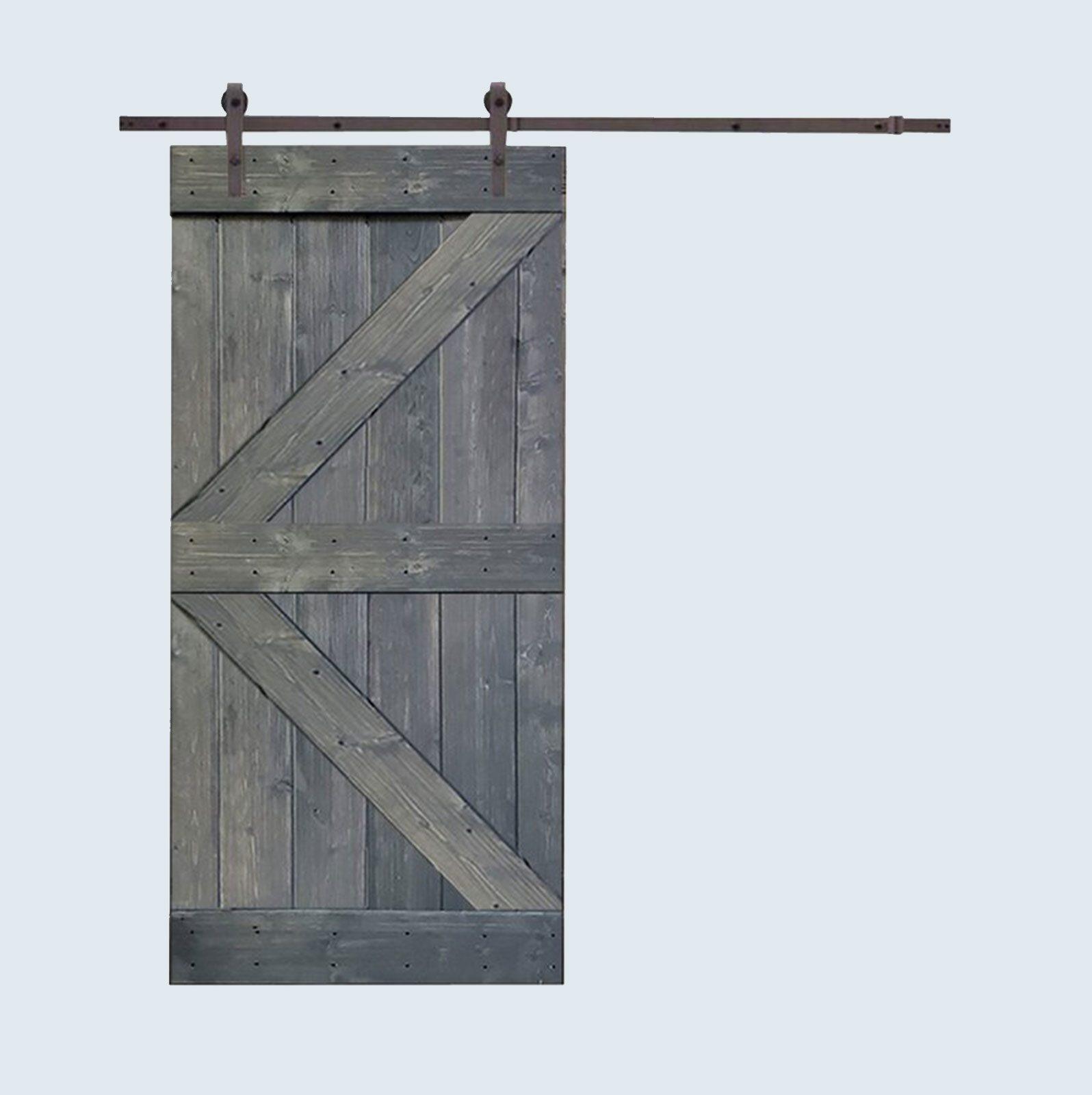 Paneled Wood Barn Door