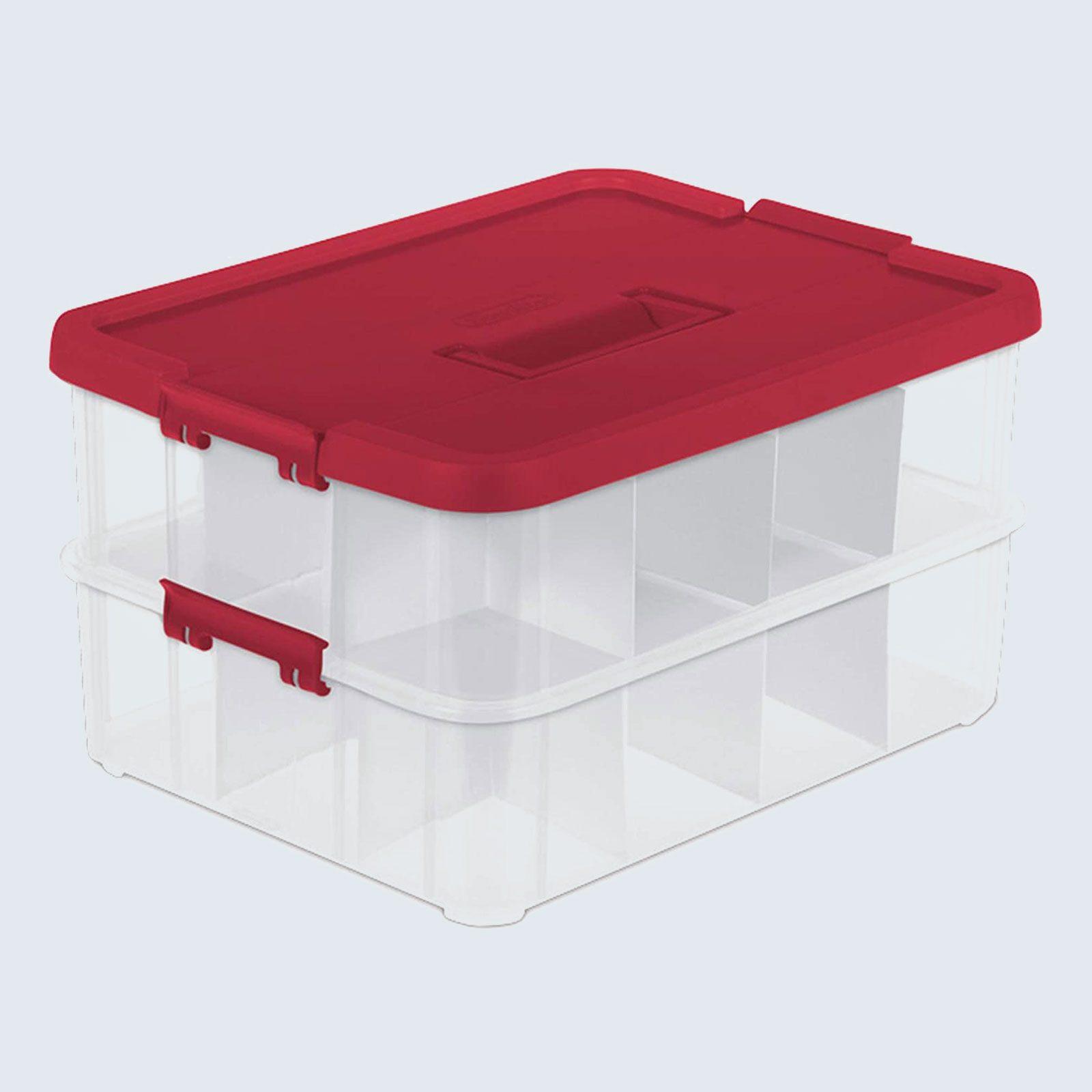 Sterilite Stack & Carry Ornament Storage Box
