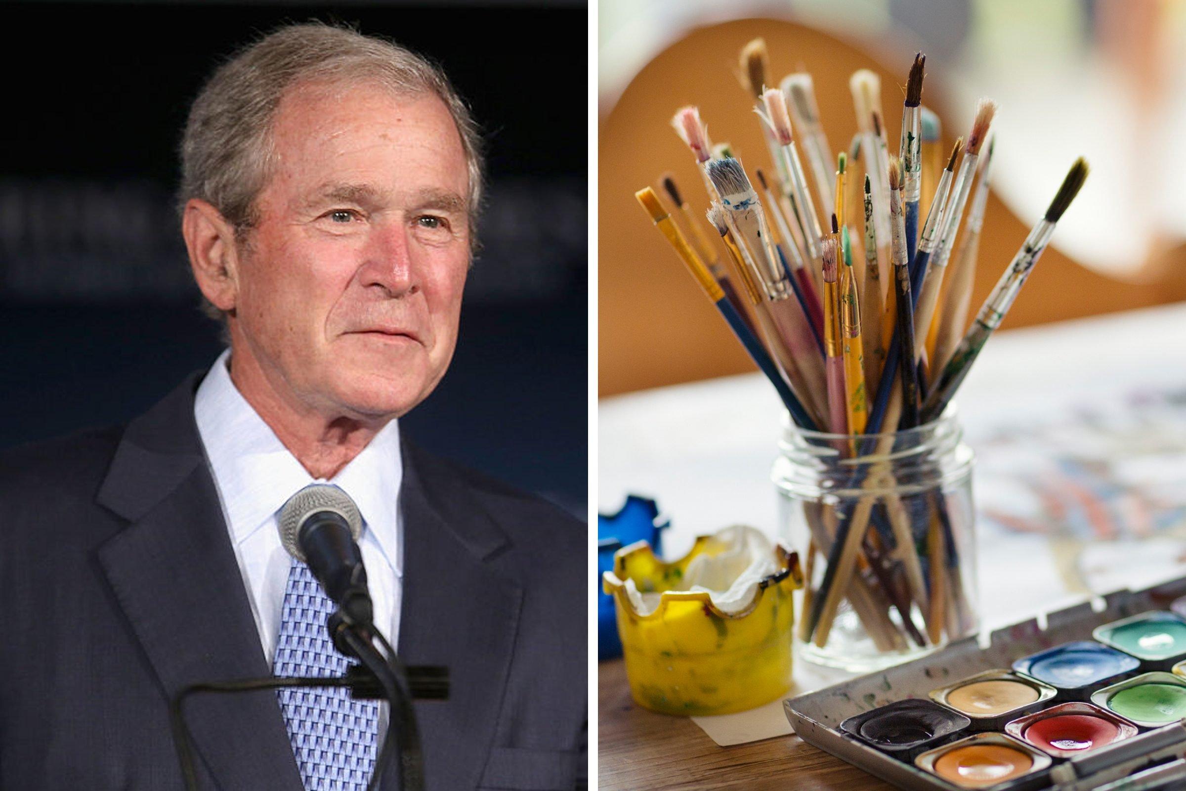 President Bush painter