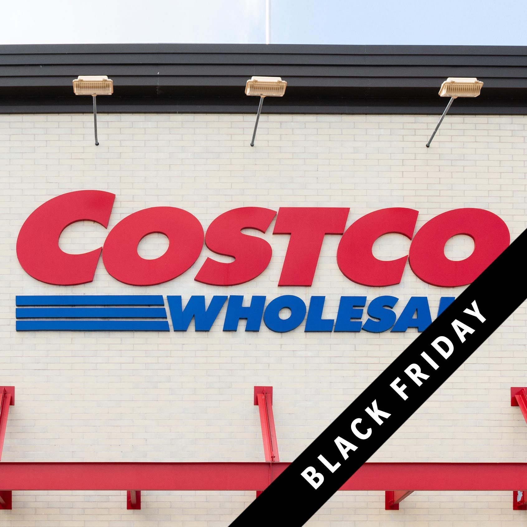 Costco storefront with black Friday banner