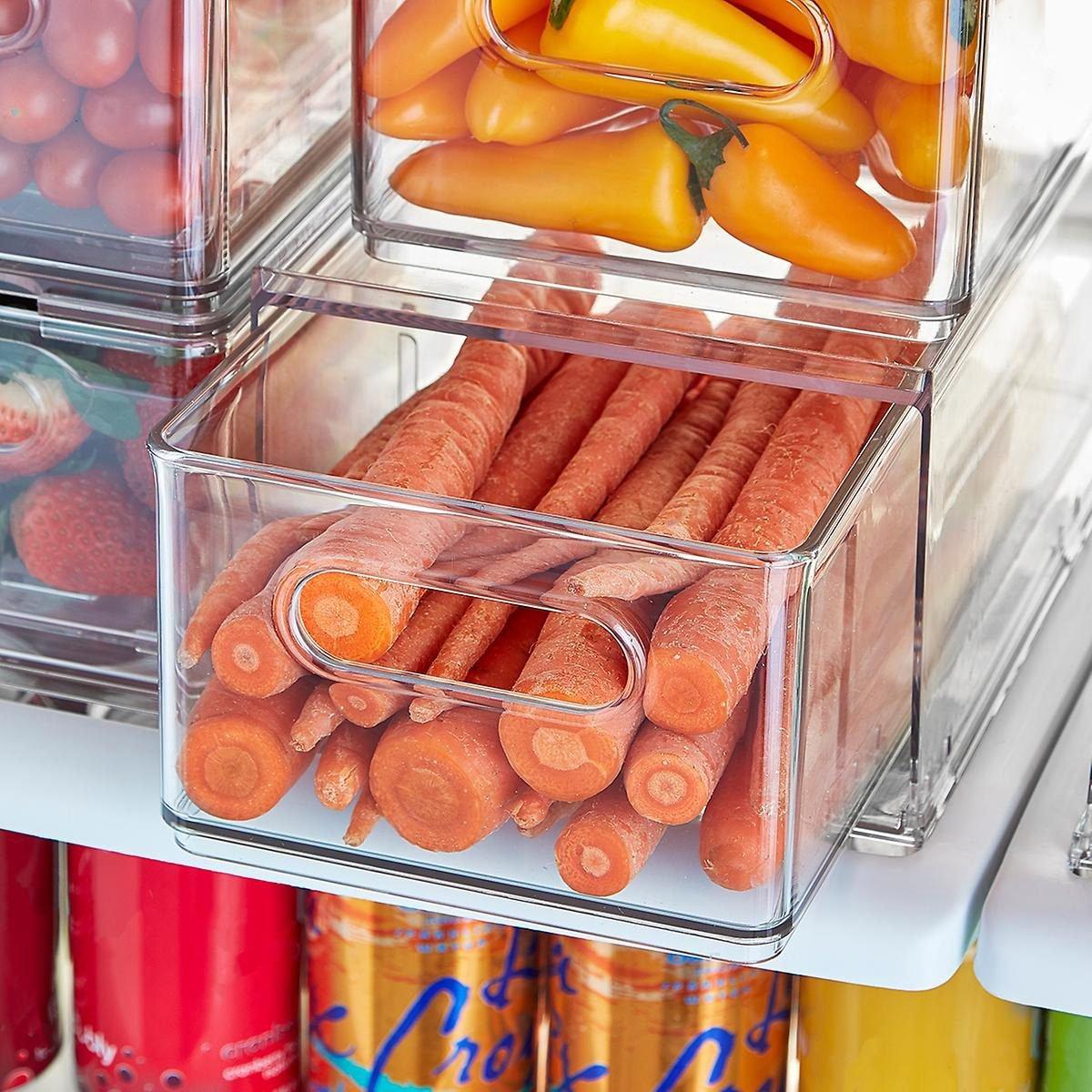 Divided fridge drawers