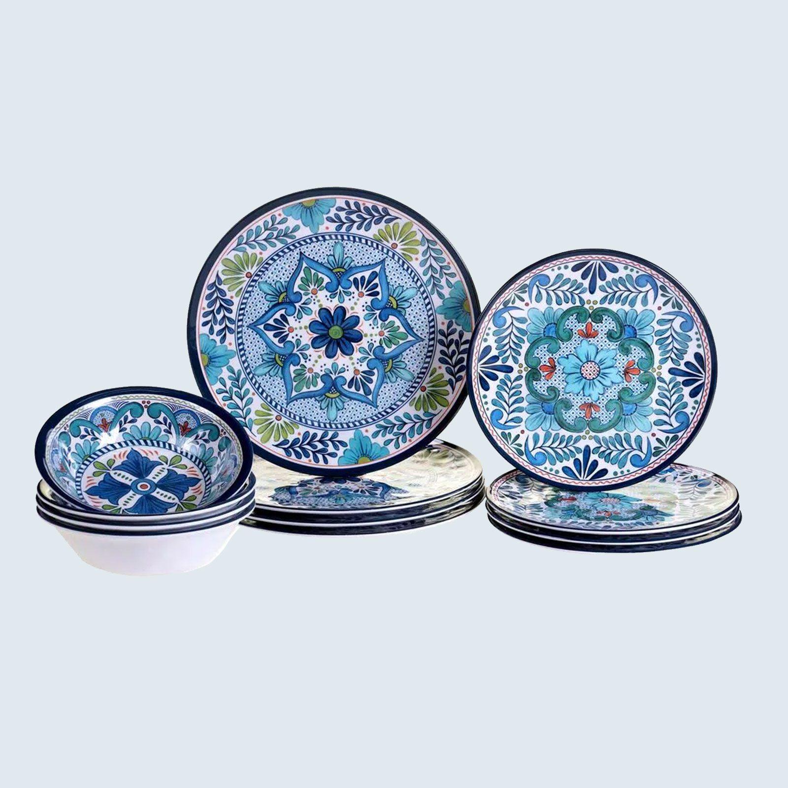 Talavera 12-Piece Melamine Dinnerware Set