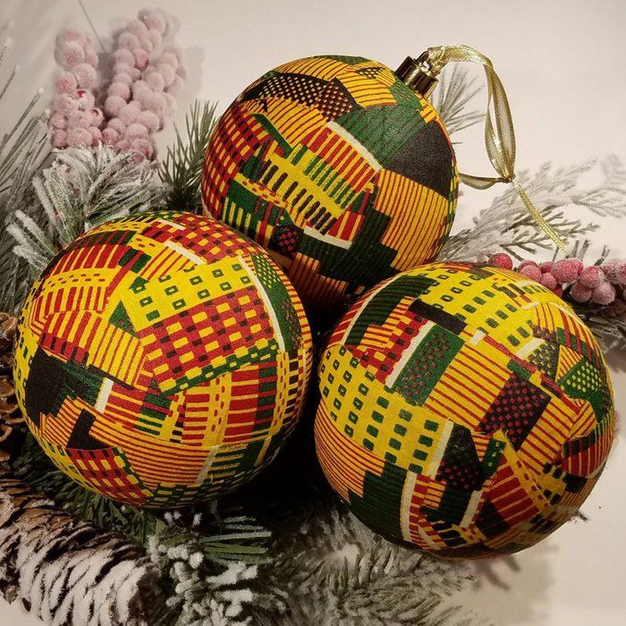 Kente Ornaments Via Etsy