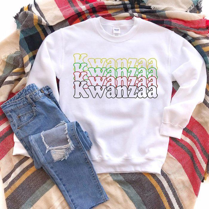 Kwanzaa Sweatshirt Via Etsy