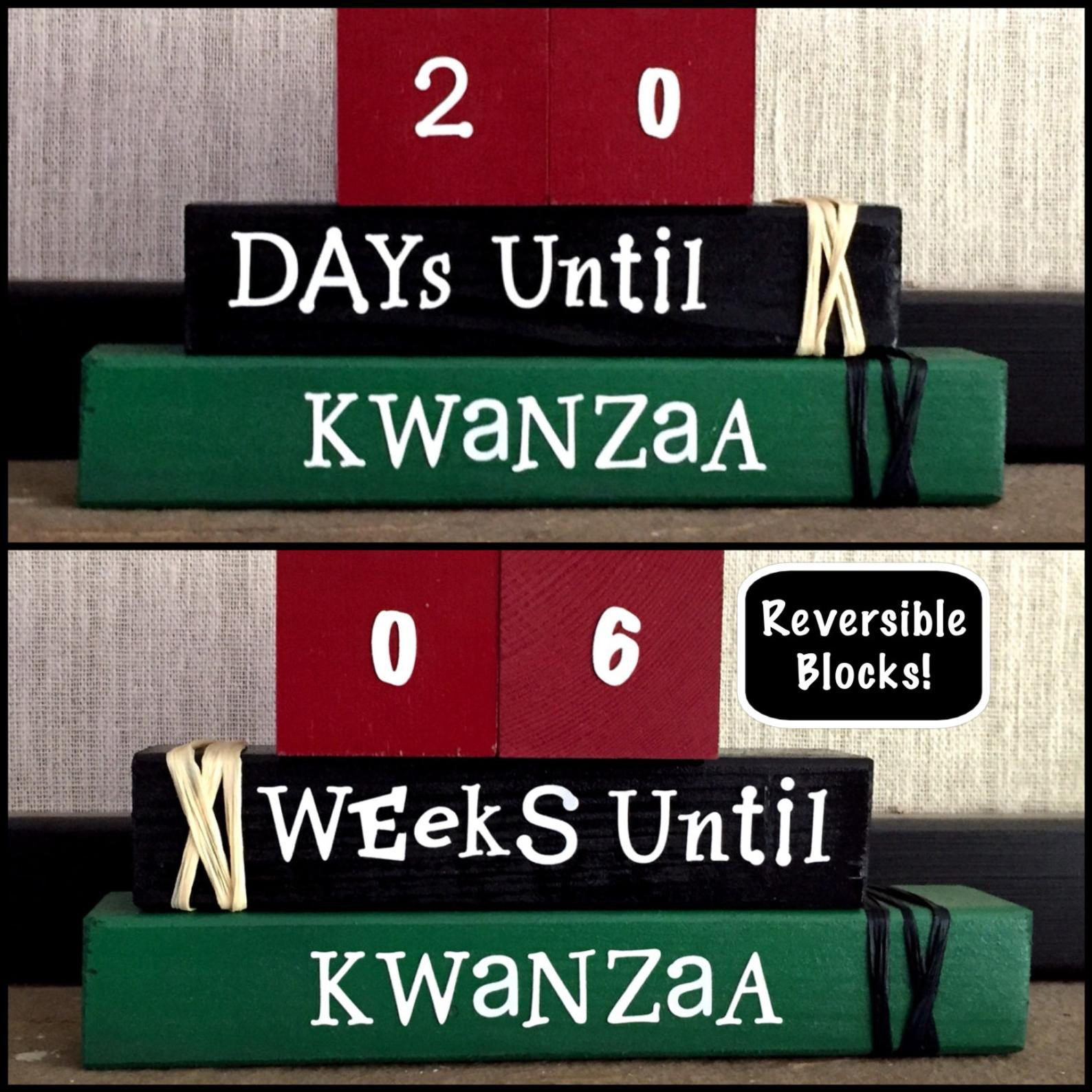 Kwanzaa Countdown Wood Blocks