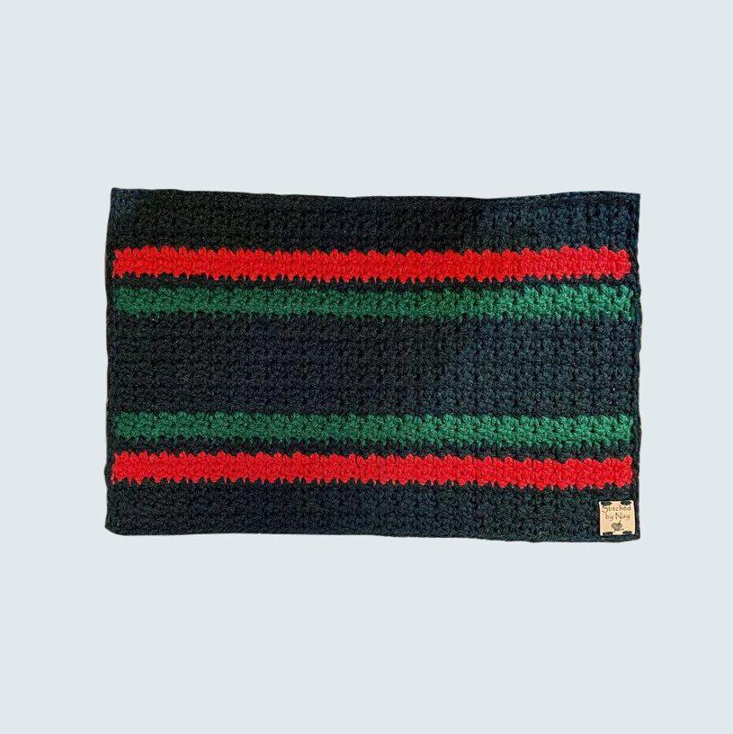 Crocheted Kwanzaa Mkeka Mat