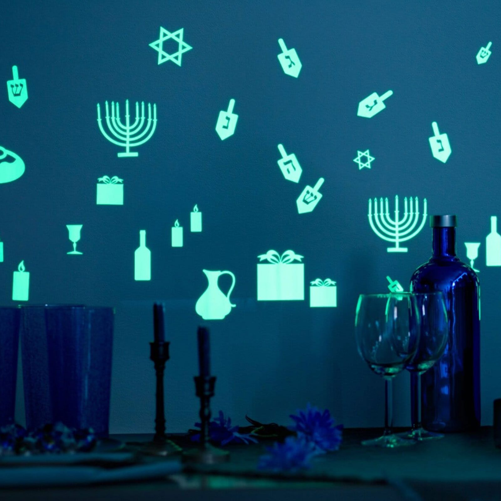 Glow-in-the-Dark Hanukkah Wall Decals