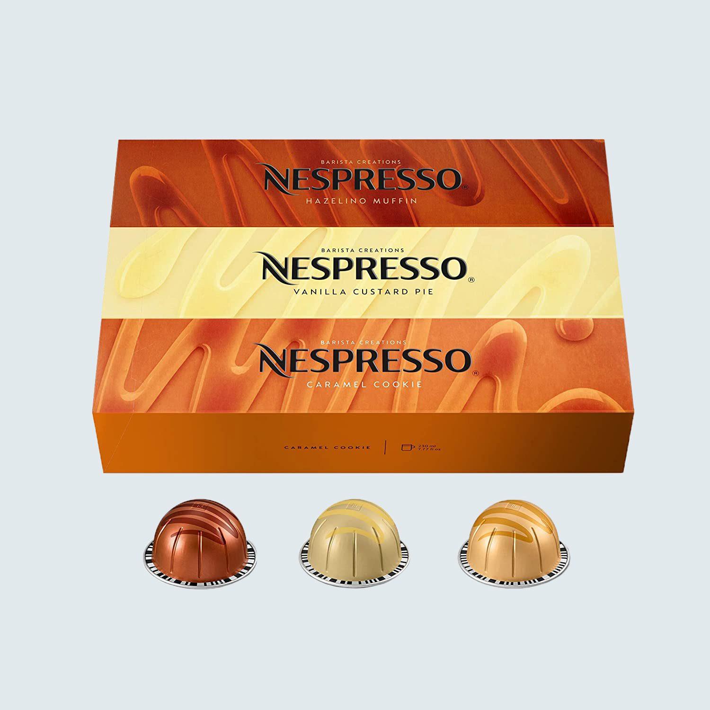 Nespresso Capsules VertuoLine, Barista Flavored Pack, 30 Coffee Pods