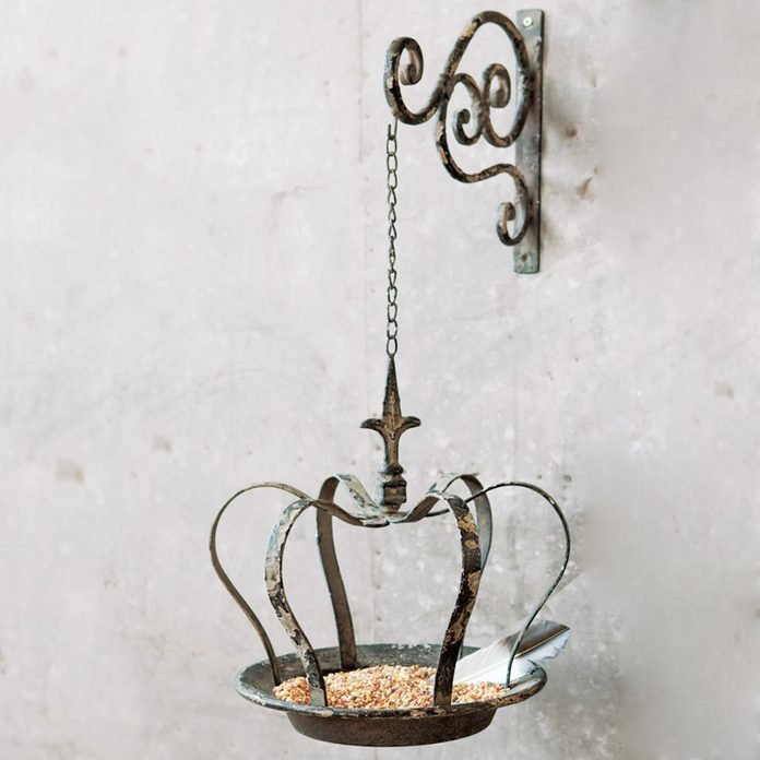 Olive & Cocoa Antiqued Crown Bird Feeder