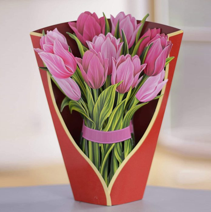 FreshCut Paper 3D Pop-Up Flower Bouquet