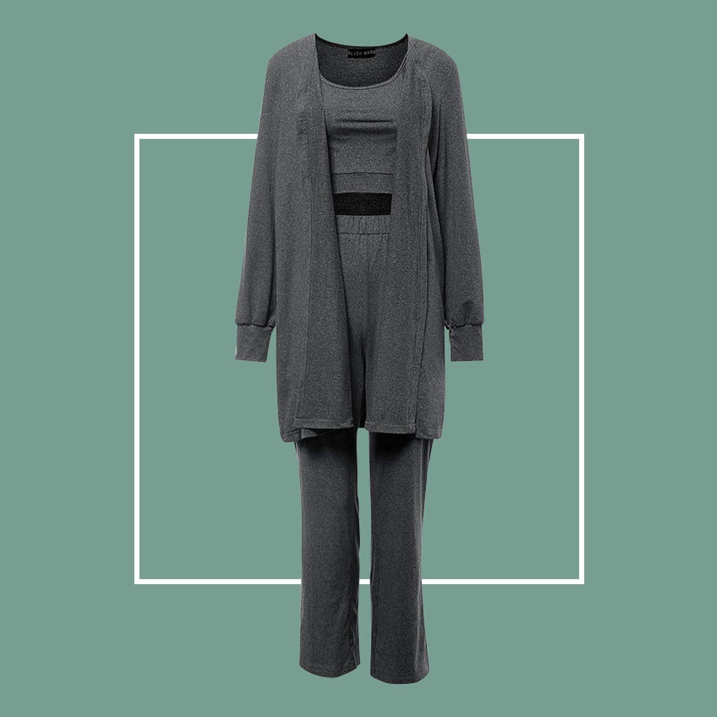 Take A Moment Black Robe PJ Set