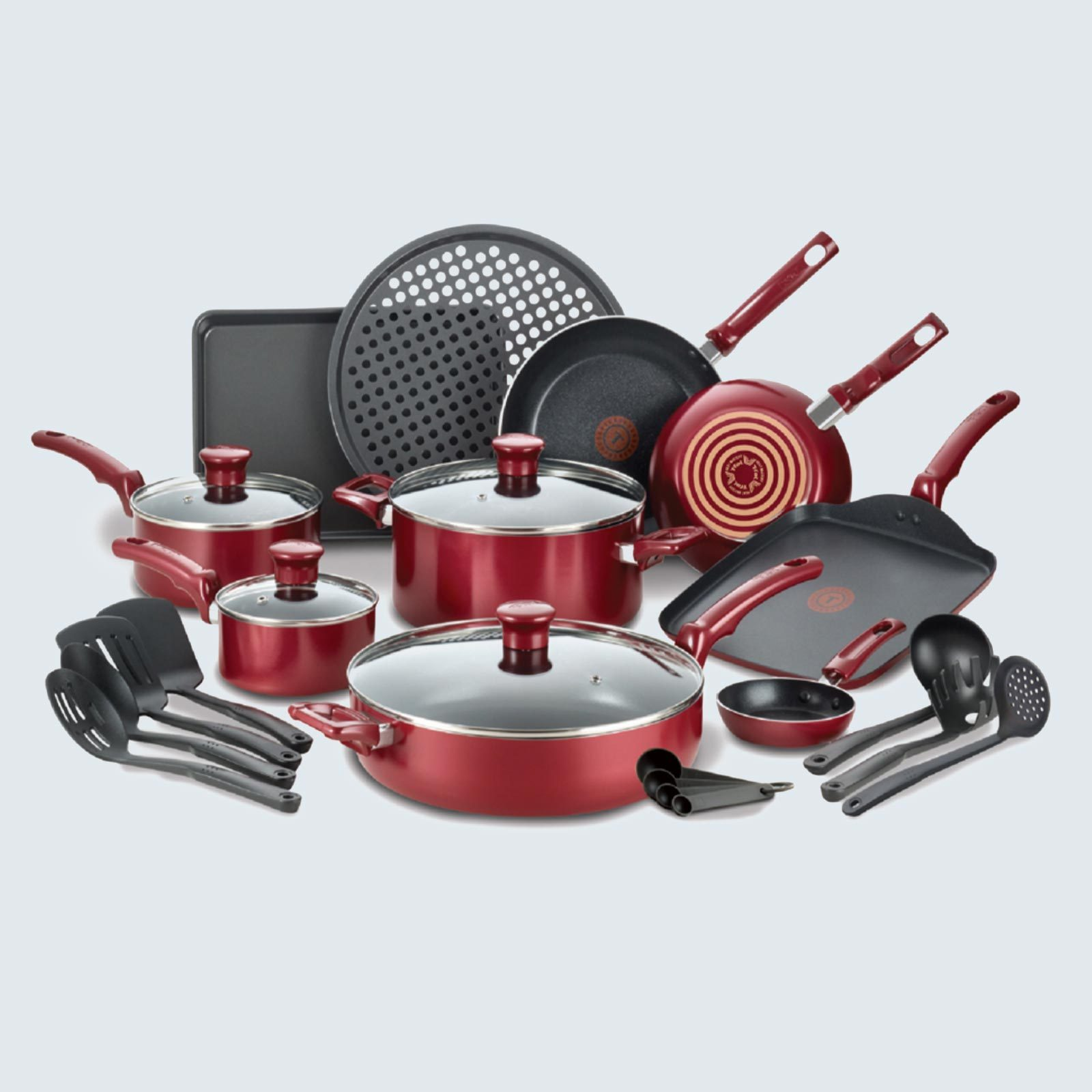 T-fal Kitchen Solutions 22-Piece Nonstick Cookware Set