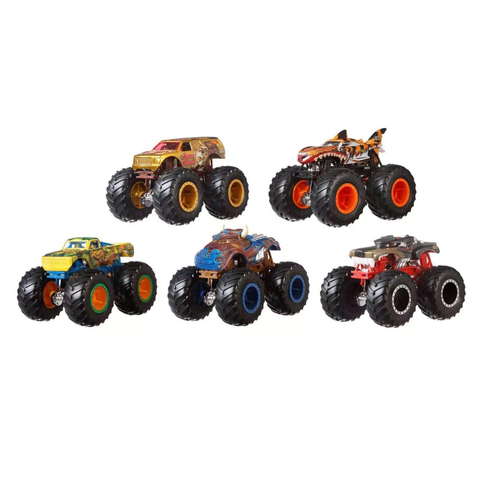 Hot Wheels Monster Trucks, 5-pack