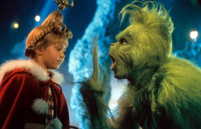 Taylor Momsen And Jim Carrey In 'How The Grinch Stole Christmas'