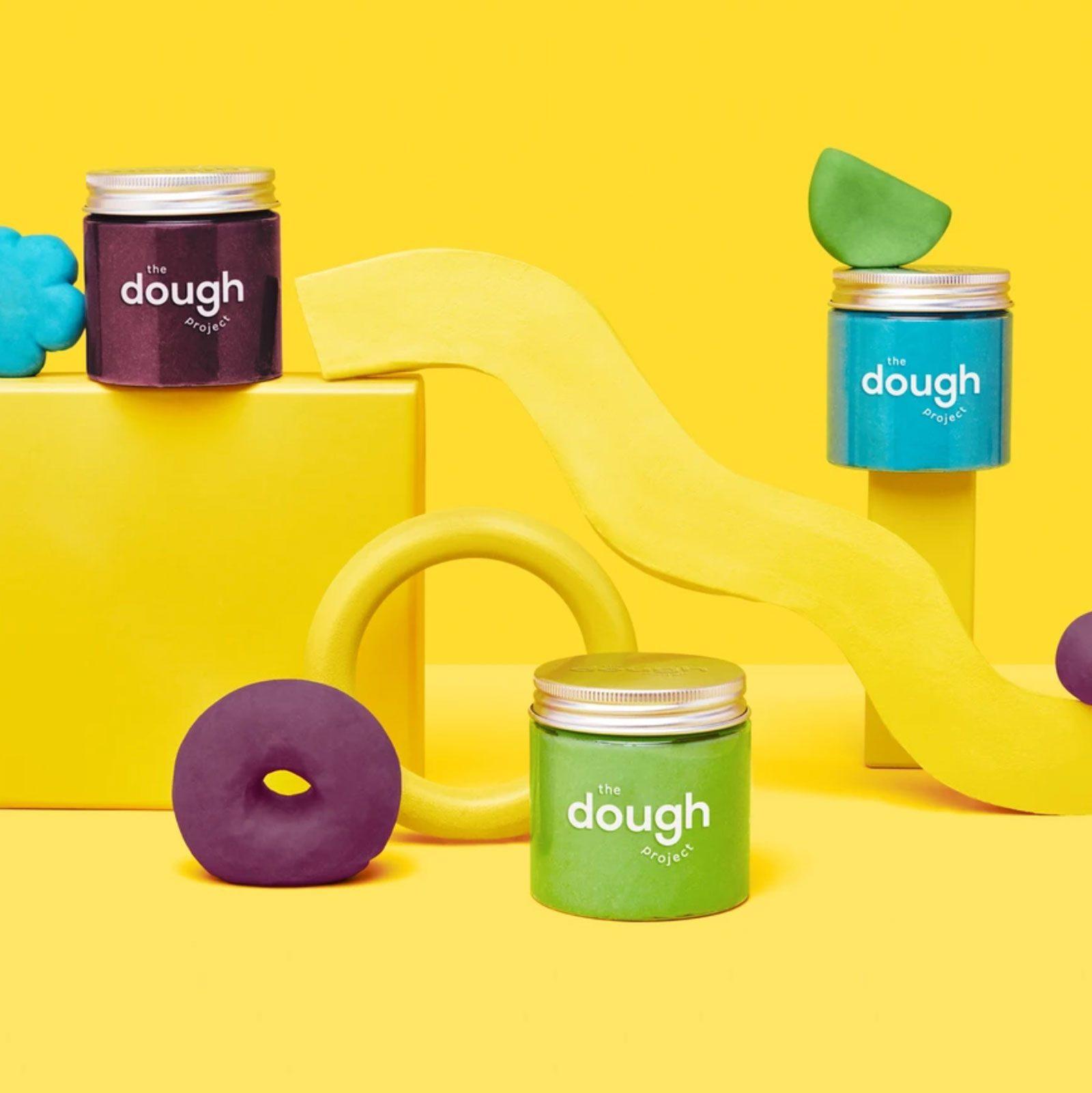 The Dough Project Playdough Jars, set of 3