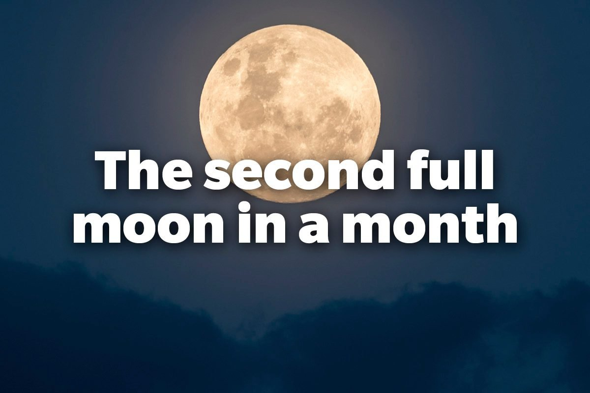 The second full moon in a month