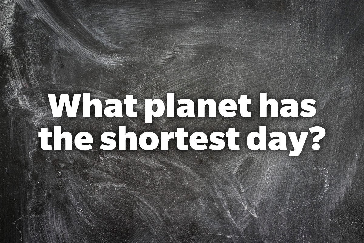 What planet has the shortest day?