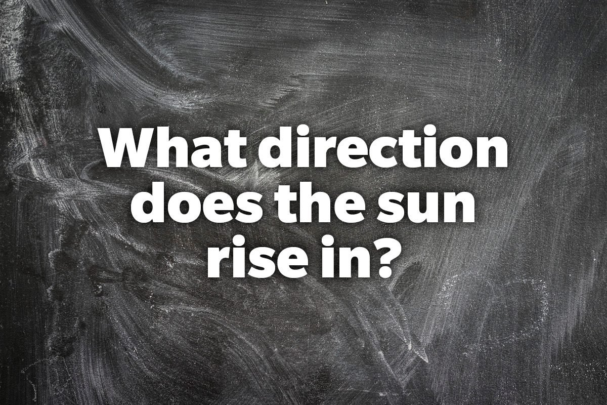 What direction does the sun rise in?