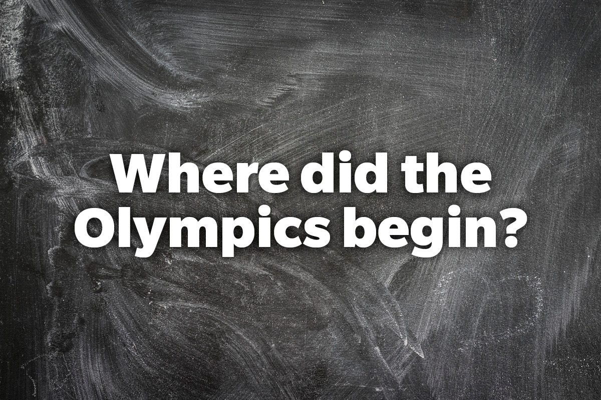 Where did the Olympics begin?