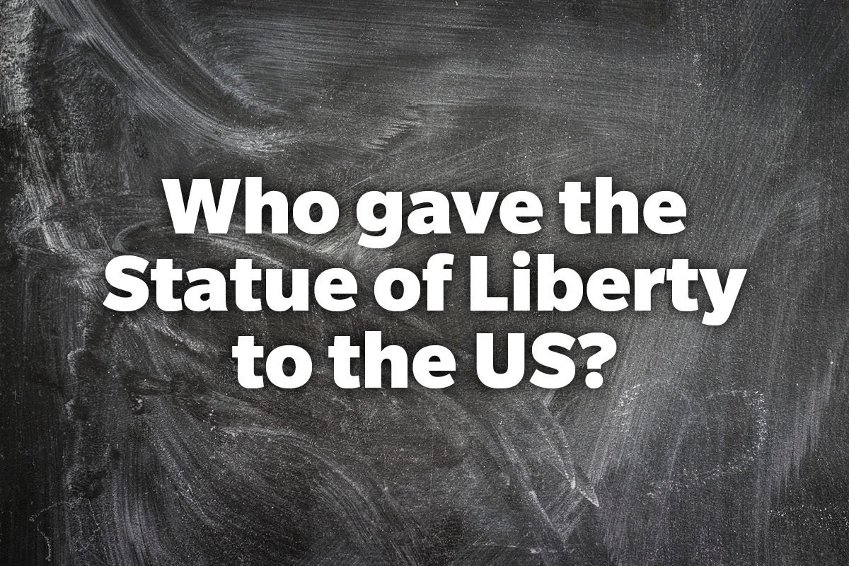 Who gave the Statue of Liberty to the US?