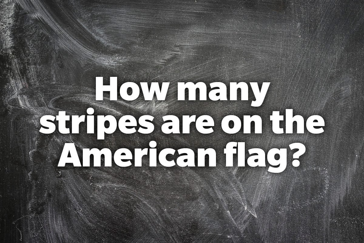 How many stripes are on the American flag?