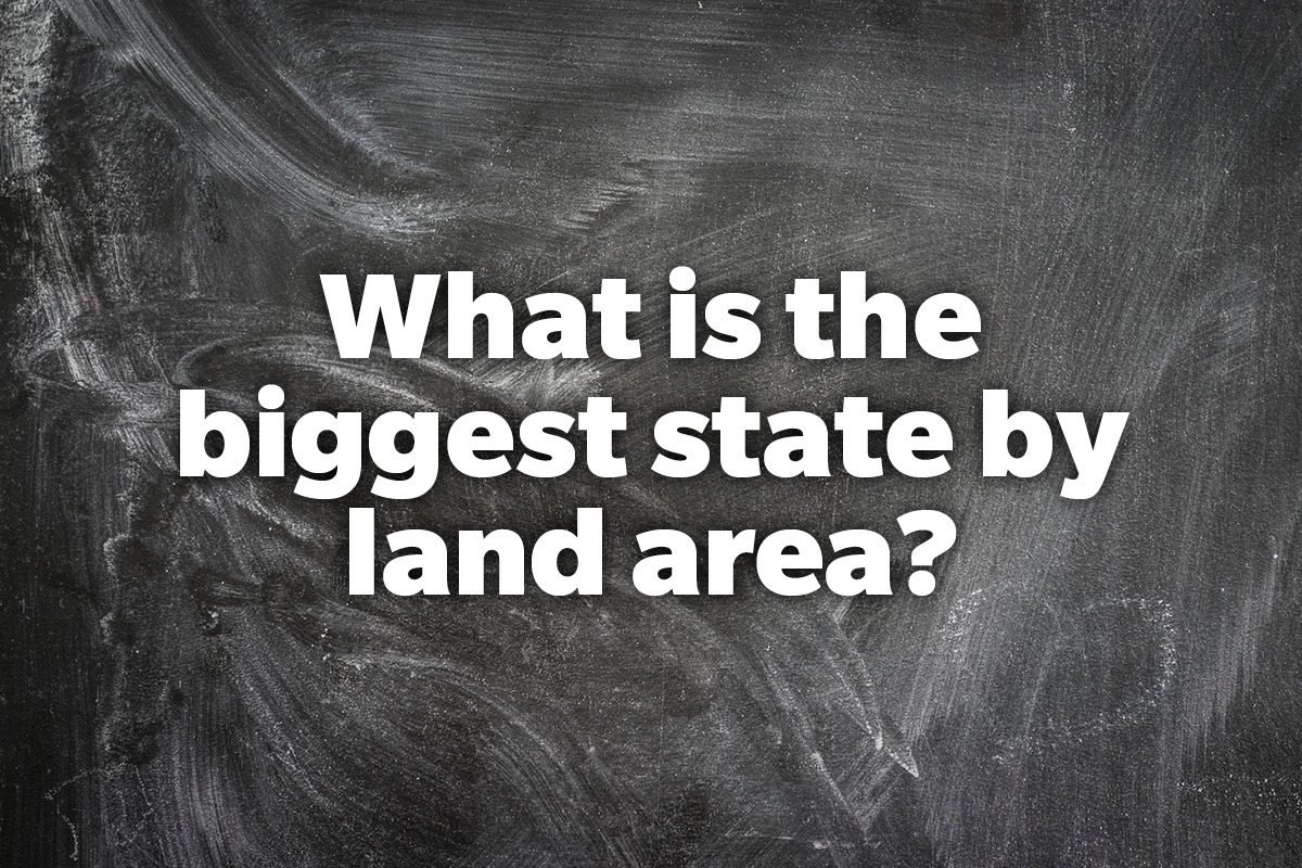 What is the biggest state by land area?