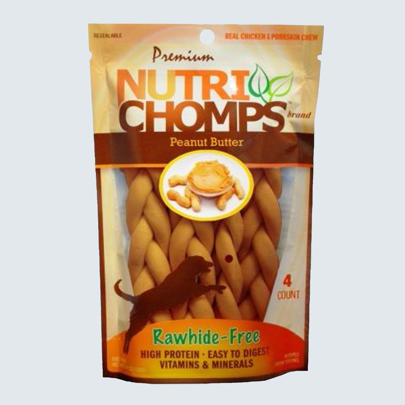 Nutri Chomps Rawhide-Free Peanut Butter Braids