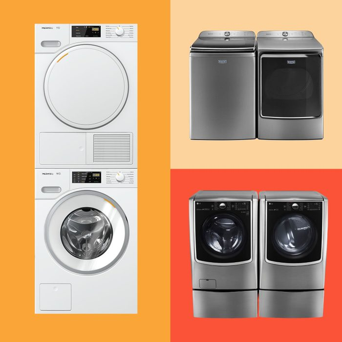 collage of three Washer Dryer sets