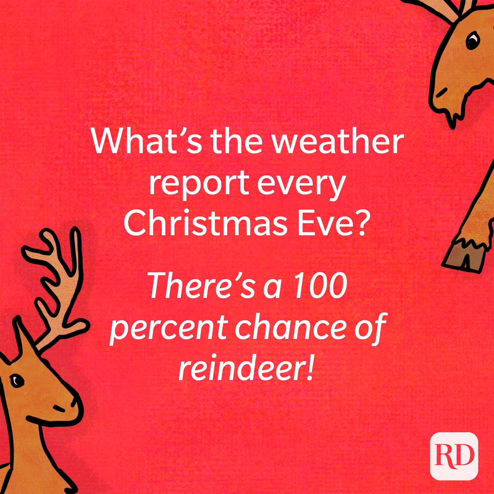 What's the weather report every Christmas Eve?