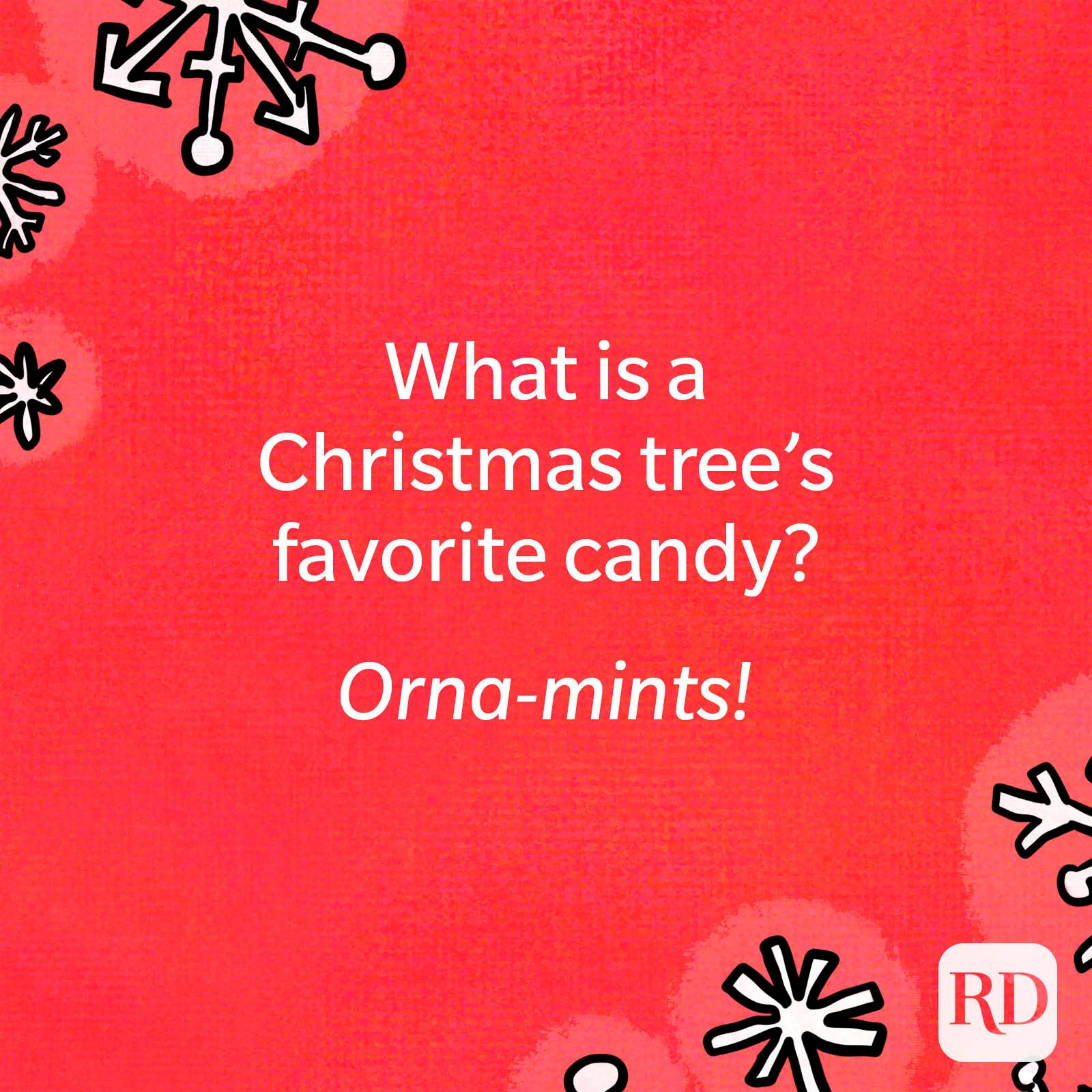 What is a Christmas tree's favorite candy?