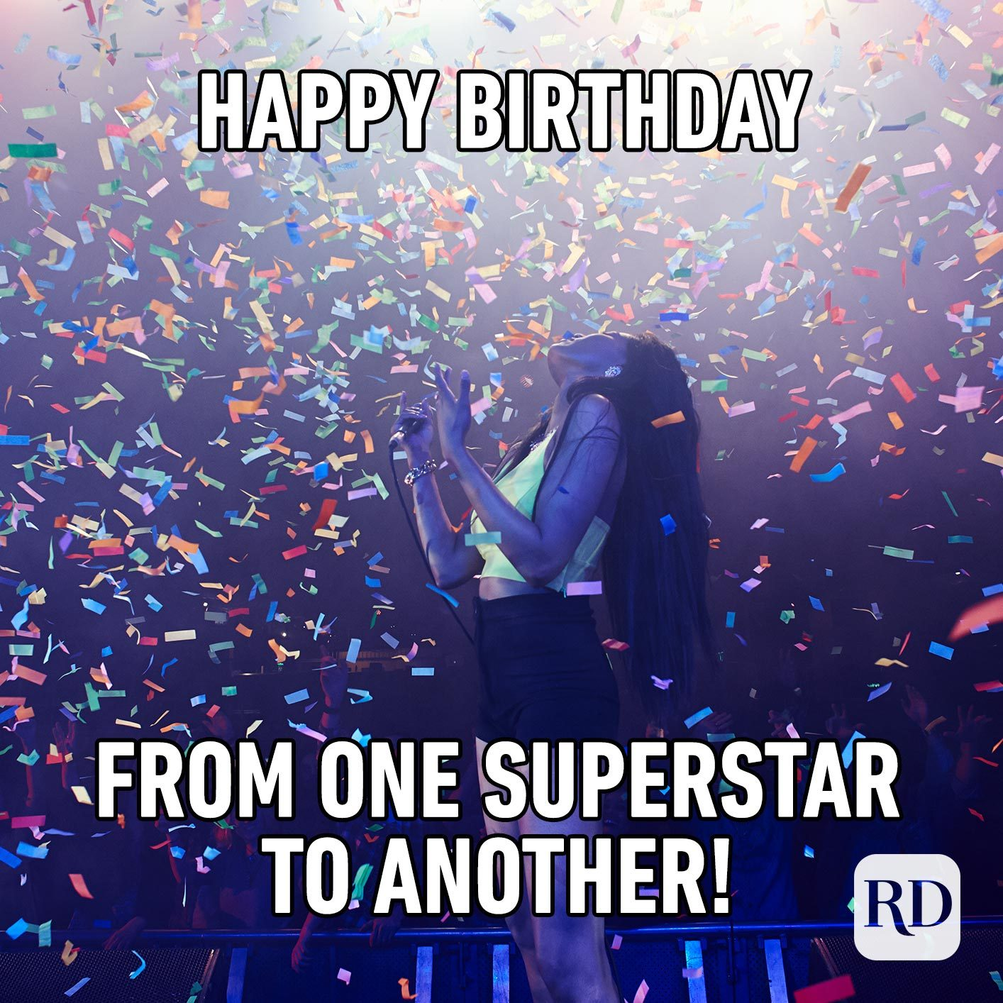 Happy Birthday from one superstar to another!