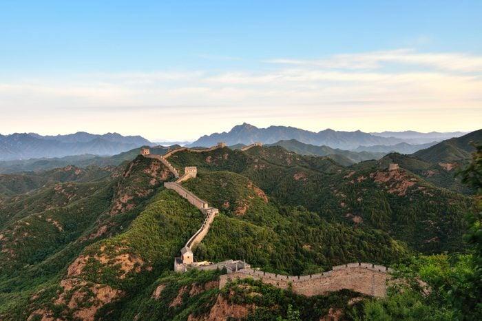 Aerial View of the Great Wall at Morning, China