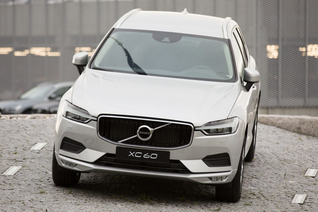 Volvo XC60 seen parked near the Headquarters of Volvo Car...