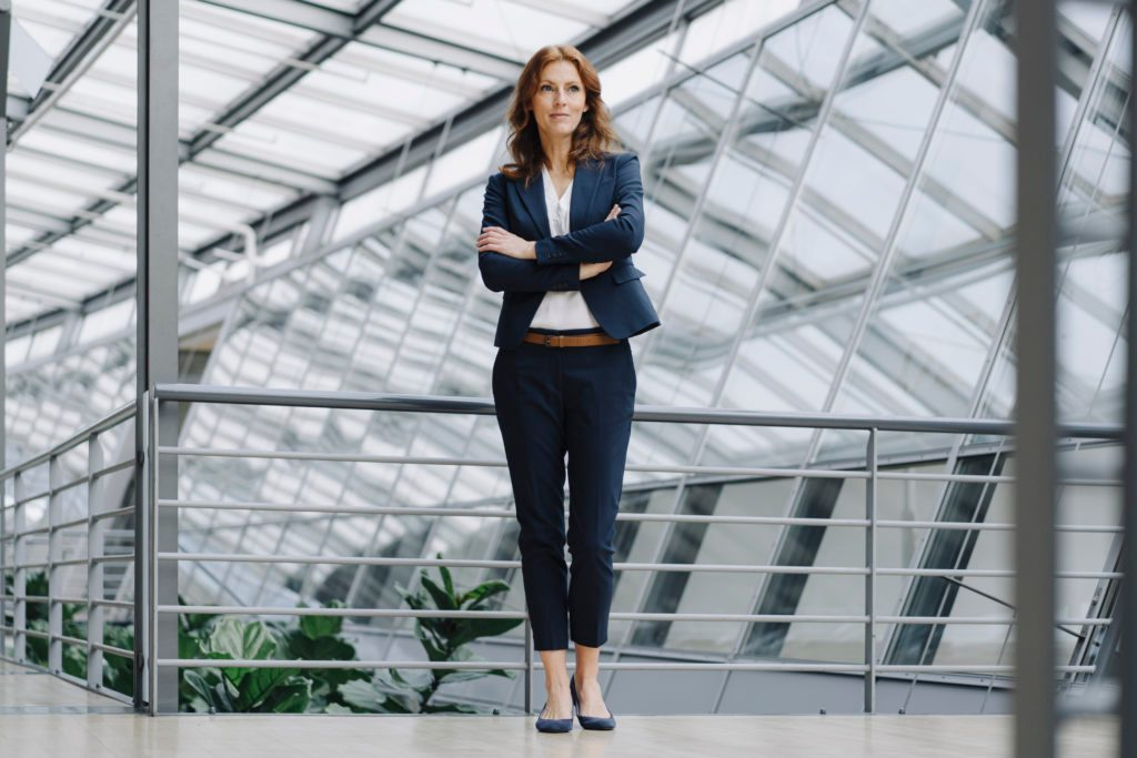 Portait of a confident businesswoman in a modern office building